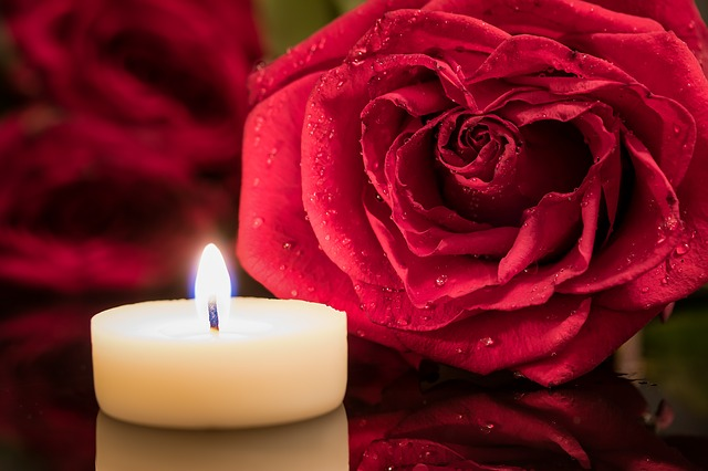 candle and roses - Womb Blessing®
